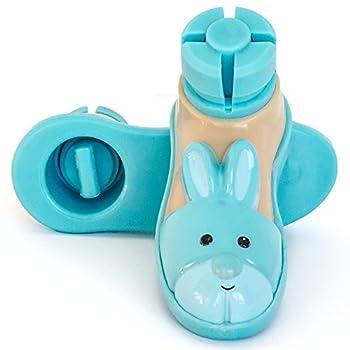 """Bunny Slipper Walker Ski Glides for 1"""" Walker Tubes (Blue)"""