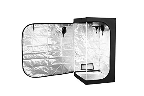 MELONFARM 32''x32''x63'' Mylar Hydroponic Grow Tent for Indoor Plant Growing with Removable Floor Tray by MELONFARM