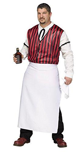 Male Bartender Costumes - Fun World Men's Plus Size Wild West Saloon Keeper Costume, Multi, Plus