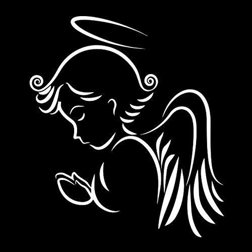 Scrapbooking Stickers & Sticker Machines, Vinyl Decal Sticker, 1PC 14cmx16cm Angel Wings Room Car Sticker Car Accessories Vinyl Decal Car Decal Stickers - White