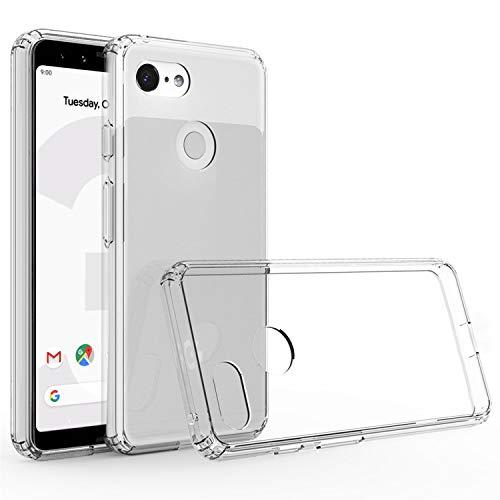 Cubevit Google Pixel 3 Case, Clear Hard PC TPU Hybrid 2 in 1 Protective Case, Slim Transparent Shock Absorption & Scratch Resistant Cover Google Pixel 3 2018