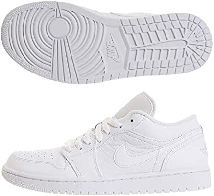 best choice latest design fast delivery Nike Air Jordan 1 Low, Men's Basketball Shoes, White (White ...