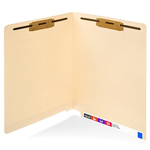 50 End Tab Fastener File Folders- Reinforced Straight Cut tab- Designed to organize standard medical files and office documents- Letter Size, Manila, 50 PACK (End File Tab)