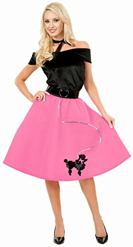 Poodle Skirt Costume For Adults (Charades Pink Poodle Skirt Adult Plus Costume - 3X)
