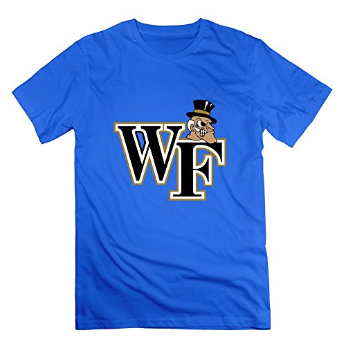 FQZX Men's Wake Forest University Logo T Shirt Small RoyalBlue ()