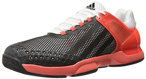 adidas Performance Men's Adizero Ubersonic Tennis Shoe White/Black/Solar Red 13 M US