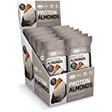 Optimum Nutrition Protein Almonds Snacks, 10g of Protein per Serving, New Flavor-Cookies & Cream, Travel to-Go 12 Count Packs