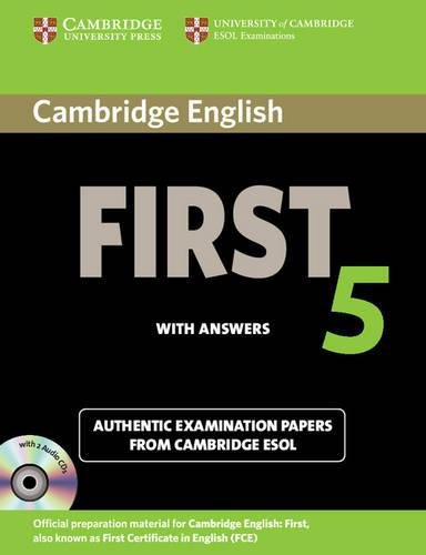 Download cambridge english first 5 self study pack student s book with answers and audio cds 2 authentic examination papers from cambridge esol fce practice tests by cambridge esol pdf free epub online x9vfb2m yadclub Image collections
