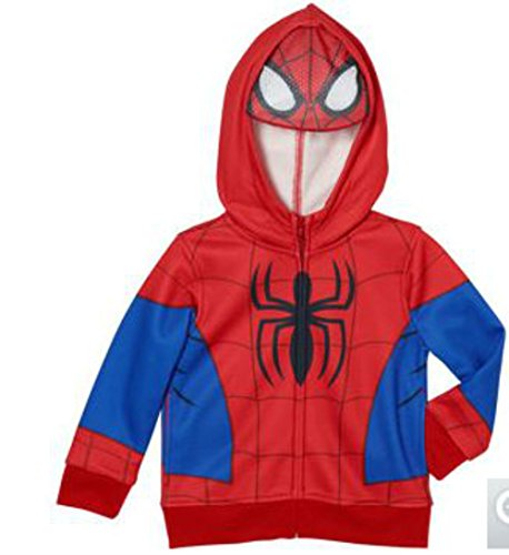 Marvel Spider-man Boys Costume Fullzip Hoodie with Mask 6