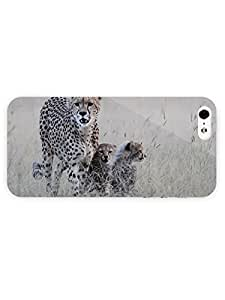 3d Full Wrap Case for iPhone 5/5s Animal Cheetah And Its Cubs21