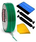 KNIFELESSFLT Knifeless Finish Line Vinyl Wrap Cutting Tape Roll for Pinstriping and Detailing (50m Roll w/Squeegee, Detailer & 2 Felts)