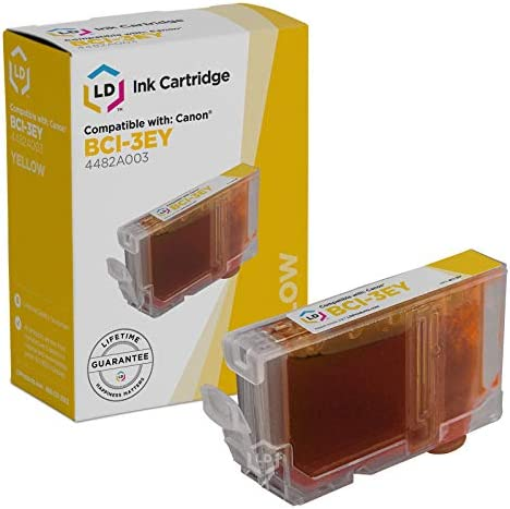 LD Compatible Ink Cartridge Replacement for Canon BCI3EY 4482A003 Yellow