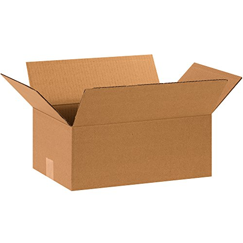 """Partners Brand P15106100PK Corrugated Boxes, 15"""" L x 10"""" W x 6"""" H, Kraft (Pack of 100) from Partners Brand"""
