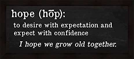 Nice Hope Definition Anna Quach To Desire With Expectation Expect With  Confidence Framed Art Print