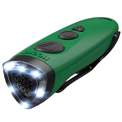 Hoont Electronic Dog Repellent and Trainer with LED Flashlight/Powerful Sonic + Ultrasonic Dog Deterrent and Bark Stopper + Dog Trainer Device/Protect Yourself from Aggressive Dogs + Train