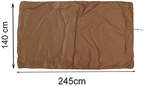 YYWJ - Funda para mesa de billar de billar (impermeable, incluye cuerda de dibujo, 245 x 140 x 20 cm), No nulo, café, Tamaño libre: Amazon.es: Hogar
