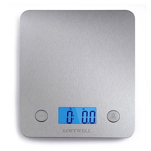 Kitchen Food Scale, LOFTWELL 11lb 5kg Digital S...