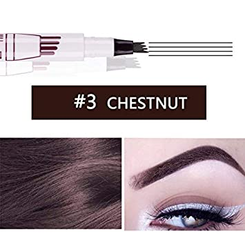 Amazon Com Eyebrow Pencil Waterproof Fork Tip Eyebrow Tattoo Pen 4