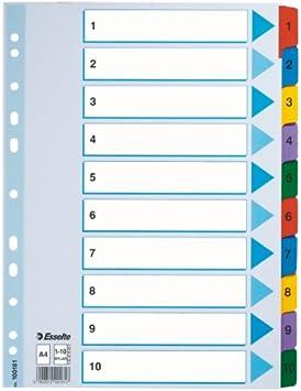 Esselte A4 1-31 Index Heavy Duty Cardboard with Mylar Reinforced Tabs Blue//Multicolour