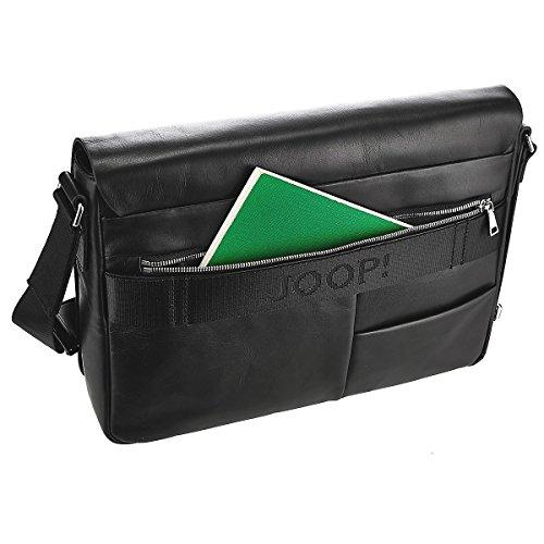 Joop! Carson Janis borsa a tracolla pelle 35 cm compartimenti portatile Black