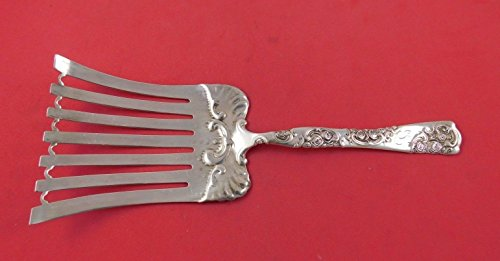 Rose and Scroll by Whiting Sterling Silver Asparagus Fork 10