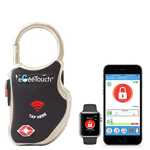 - eGeeTouch Smart TSA Travel Lock - Secure & Track Your Luggage/Backpack Anywhere You go - Black