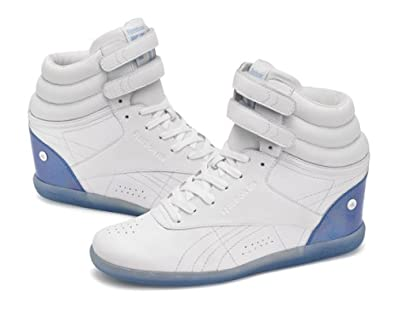 eca502d33f34 NEW Reebok Freestyle Hi Wedge Trainers White LIMITED EDITION SOLDOUT ALL  SIZES (7.5UK