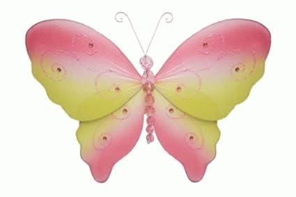 Amazon.com: Hanging nylon butterfly craft nursery bedroom girls room ...