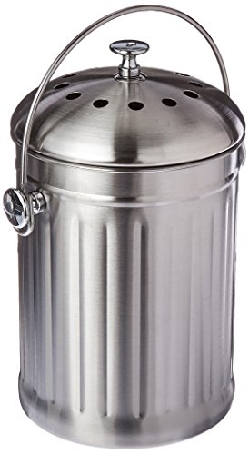 Good Ideas Kitchen Accents Composter, Stainless -