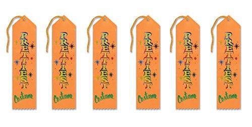 [Beistle HAR508 6-Piece Prettiest Costume Award Ribbon, 2-Inch by 8-Inch] (Best Costume Award Ribbon)