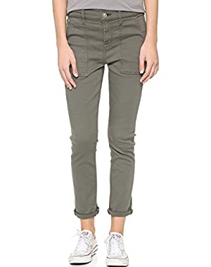 7 For All Mankind Women's Military Skinny Pants