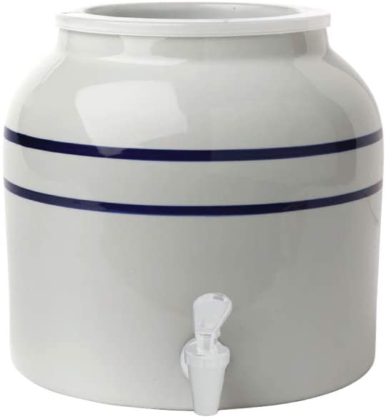 New Wave Enviro Products Porcelain Water Dispenser Blue Stripe