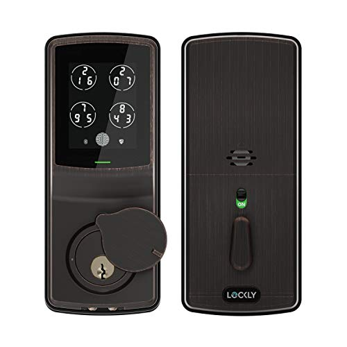 Bluetooth Keyless Entry Smart Door Lock (PGD 728) Patented Touchscreen/Alarm System | Discrete PIN Code Input | iOS and Android Compatible | Venetian Bronze