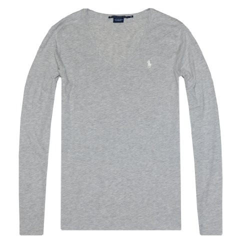 4f739a39 Ralph Lauren Sport Women Lightweight Pony Logo V-neck Long Sleeve T-shirt  (M, Gray) - Buy Online in UAE.   Apparel Products in the UAE - See Prices,  ...