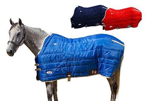 (Derby Originals 420D Breathable Water-Resistant Nylon Heavyweight Winter Horse Stable Blanket  - Heavy Weight 300g Polyfil Insulation)
