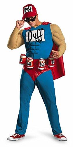 Duffman Halloween Costume (Duffman Classic Muscle Adult Costume -)