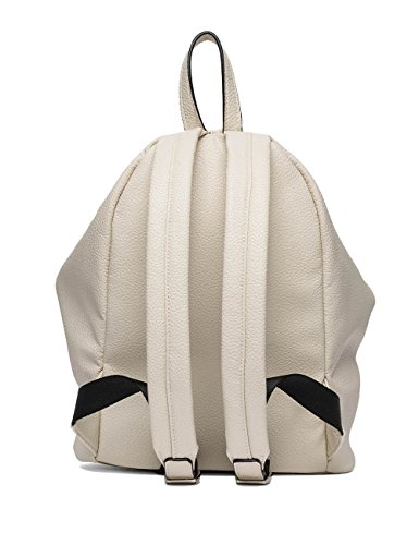 Replay Womens Womens Faux Leather Black Backpack Off-white