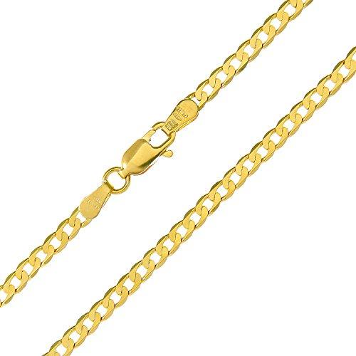 Revoni Bague en or jaune 9carats-7,2g-Collier Femme-Maille Gourmette, longueur 61cm/61cm, Largeur: 3mm