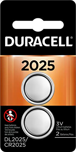 - Duracell - 2025 3V Lithium Coin Battery - long lasting battery - 2 count