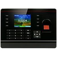 Fingerprint Time Clock, Realand Biometric Attendance RFID Card Password for Office Employee USB Download Black