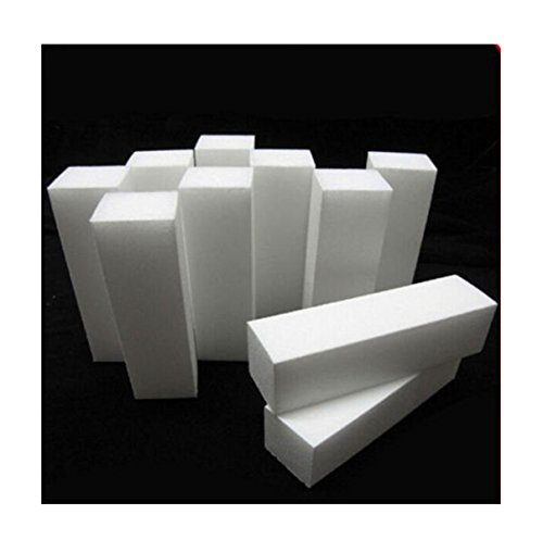 10PCS White Nail Art Buffer File Block Pedicure Manicure Buffer Sanding Tip Set (10Pcs-White) (Buffers And Files Bulk Nail)