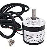 TWTADE / 600P/R Incremental Rotary Encoder DC 5-24V Wide Voltage Power Supply 6mm Shaft AB Two Phases