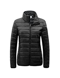 SUNDAY ROSE Womens Packable Jacket Lightweight Puffer Quilted Coat