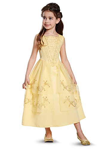 Disguise Belle Ball Gown Classic Movie Costume, Yellow, Medium (7-8)