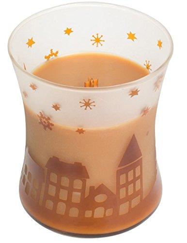 Woodwick Hot Toddy, candela a clessidra, edizione natalizia, colore arancione, 9,7x 10,1x 11,6cm 7x 10 1x 11 6cm 78246