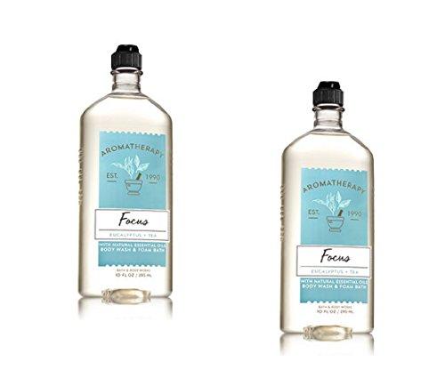 Lot of 2 Bath & Body Works Aromatherapy Eucalyptus Tea Body Wash & Foam Bath 10oz. ()