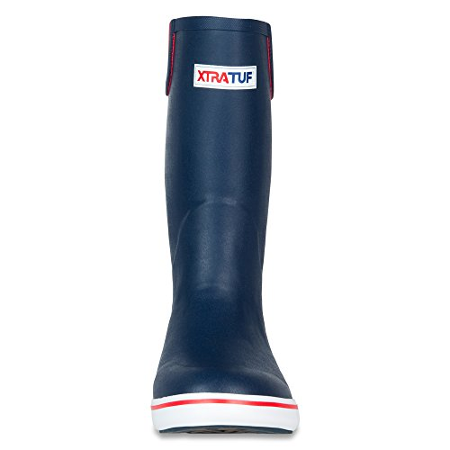 XTRATUF Performance Series 12'' Men's Full Rubber Deck Boots, Navy & Red (22732) by Xtratuf (Image #2)
