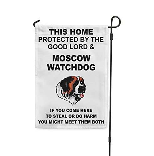 Home protected Good Lord MOSCOW WATCHDOG DOG Meet Both Yard