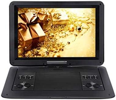Mini Portátil De DVD, Reproductor De 13.9Inch HD TV Películas LCD Móvil Giratorio USB De La Pantalla De Rotación De Coche Multi Media Video Game Play: Amazon.es: Deportes y aire libre