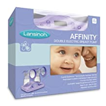 Lansinoh Affinity Double Electric Breast Pump, Lavender